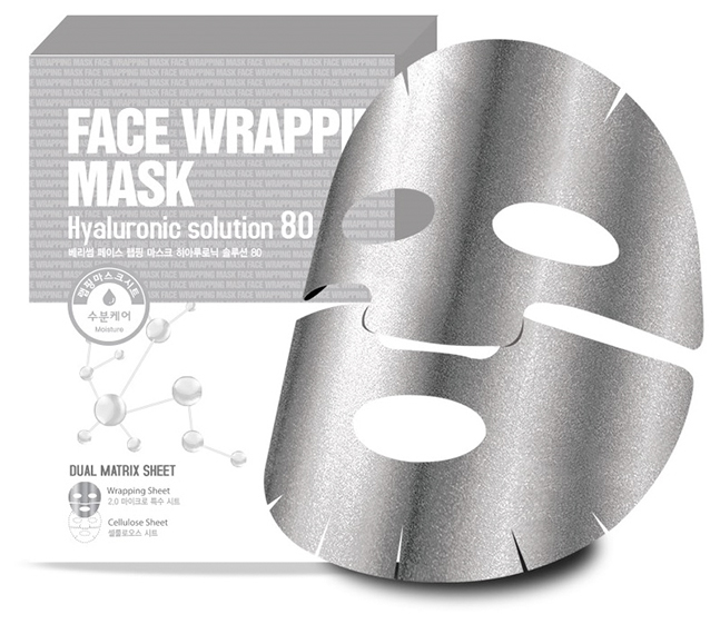 Маска для лица с  гиалуроновой кислотой Face Wrapping Mask Hyaruronic Solution 80