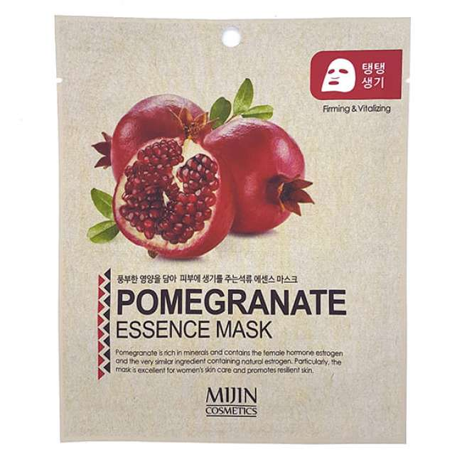 Маска для лица тканевая гранат POMEGRANATE ESSENCE MASK