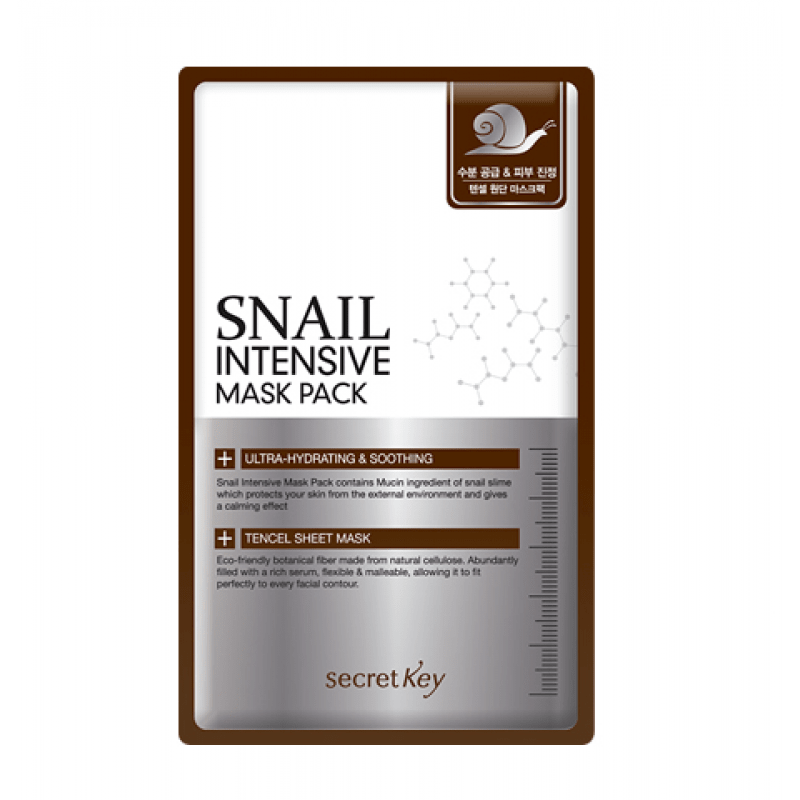 Маска для лица тканевая с муцином улитки Snail Intensive Mask Pack